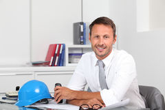 Architect at work on office Stock Image