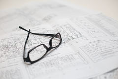Architect work place Stock Images