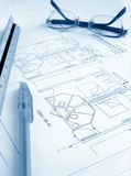 Architect work table Royalty Free Stock Image