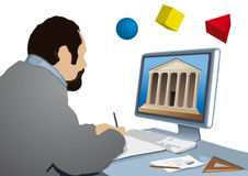 Architect at work (vector) Stock Images