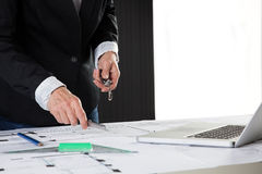 Architect work Stock Images