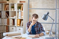 Architect at work Royalty Free Stock Image