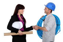 Architect and worker Stock Photography