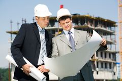 Architect and worker Stock Image