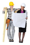 Architect and worker Stock Images