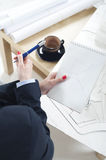 Architect working Royalty Free Stock Photography