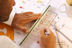 Architect working Stock Photo