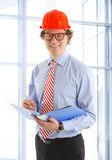 Architect working on construction Stock Photos