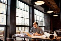 Architect working royalty free stock photos
