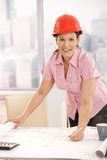 Architect working at desk Royalty Free Stock Image