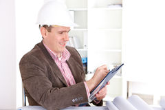 Architect working with documents Stock Images