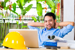Architect working at home Royalty Free Stock Photos