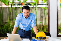 Architect working at home Stock Photography