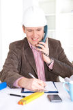 Architect working in office Stock Photography
