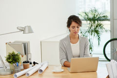 Architect working in office Stock Image