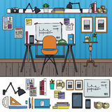 Architect working place Royalty Free Stock Photography