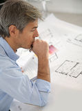 Architect working on project Royalty Free Stock Photo