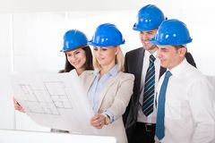 Architect working on project Royalty Free Stock Photos