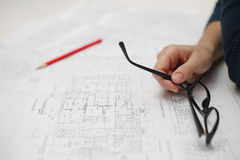 Architect workplace Stock Images