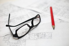 Architect workplace Royalty Free Stock Photography