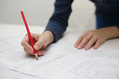 Architect workplace Royalty Free Stock Image