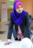 An architect Young Muslim woman Royalty Free Stock Images