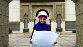 An architect Young Muslim woman Royalty Free Stock Image