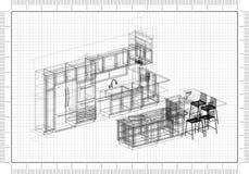 Architecte Blueprint images libres de droits