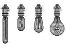 Architecte Blueprint d'ampoules - d'isolement illustration de vecteur