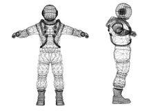Architecte Blueprint d'astronaute - d'isolement illustration libre de droits