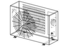 Architecte Blueprint de climatiseur - d'isolement illustration libre de droits