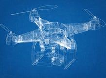 Architecte Blueprint de concept de bourdon illustration stock