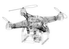 Architecte Blueprint de concept de bourdon - d'isolement illustration de vecteur