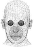 Architecte Blueprint de concept de tête humaine - d'isolement illustration stock