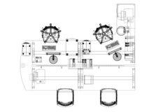 Architecte Blueprint de conception de bureau - d'isolement illustration libre de droits