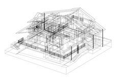 Architecte Blueprint de conception de Chambre - d'isolement illustration de vecteur