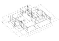 Architecte Blueprint de conception d'appartement - d'isolement illustration libre de droits