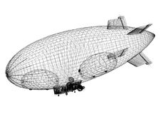 Architecte Blueprint de conception de dirigeable - d'isolement illustration de vecteur