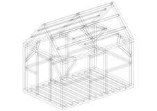 Architecte Blueprint de construction de Chambre - d'isolement illustration stock