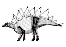 Architecte Blueprint de dinosaure - d'isolement illustration stock
