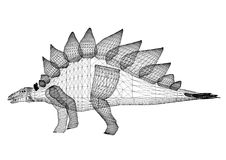 Architecte Blueprint de dinosaure - d'isolement illustration libre de droits