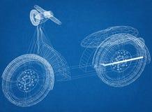 Architecte Blueprint de scooter illustration stock