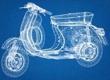 Architecte Blueprint de scooter illustration libre de droits