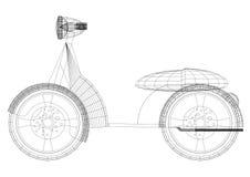 Architecte Blueprint de scooter - d'isolement illustration libre de droits