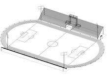 Architecte Blueprint de stade de football - d'isolement illustration stock