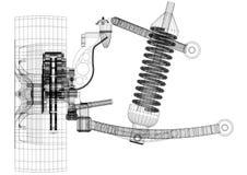 Architecte Blueprint de suspension - d'isolement illustration libre de droits