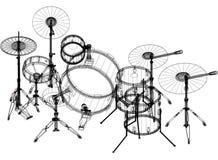Architecte Blueprint de tambours - d'isolement illustration de vecteur