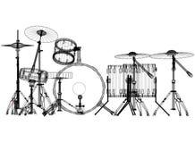 Architecte Blueprint de tambours - d'isolement illustration stock