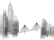Architecte Blueprint de ville - d'isolement illustration libre de droits