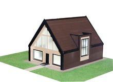 architecte de la maison 3d Image libre de droits